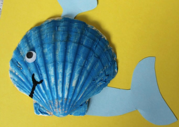 sea shell whale craft for children