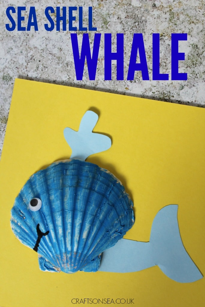sea shell whale craft for kids