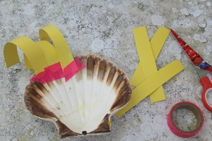 seashell crafts for kids lion