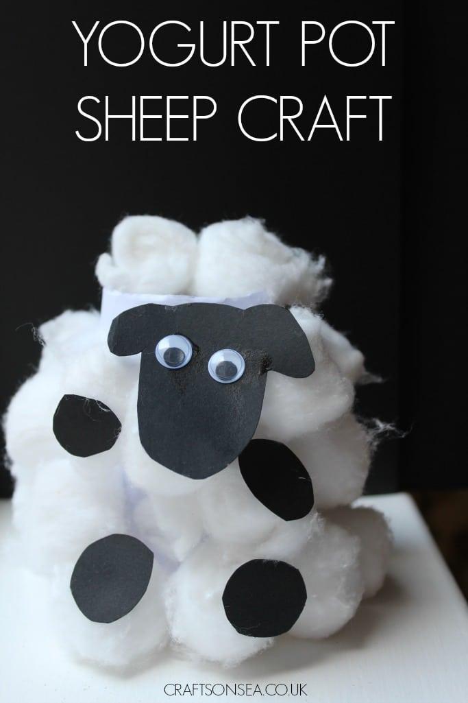 yogurt pot sheep craft