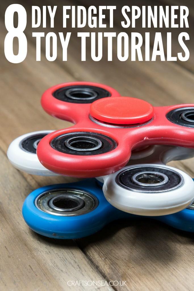 DIY fidget spinner tutorials