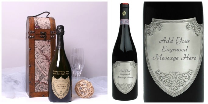 christening gifts engraved wine bottles