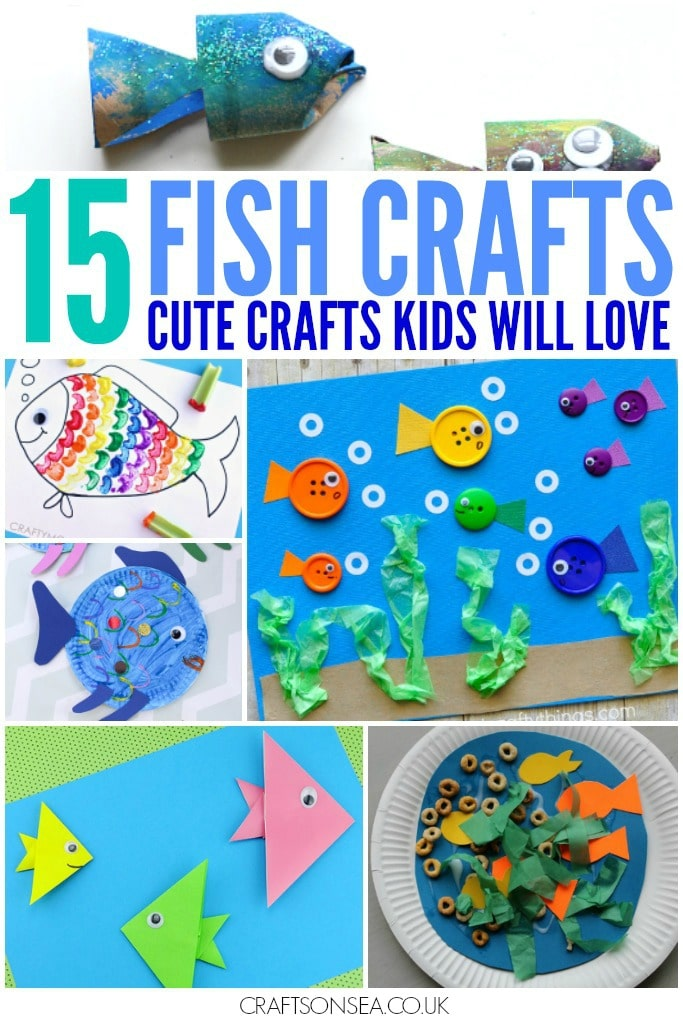 fish crafts for kids EYFS