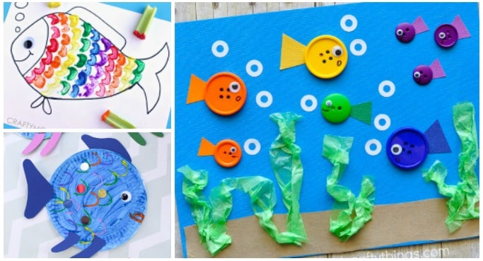 Fish Crafts For Kids Crafts On Sea