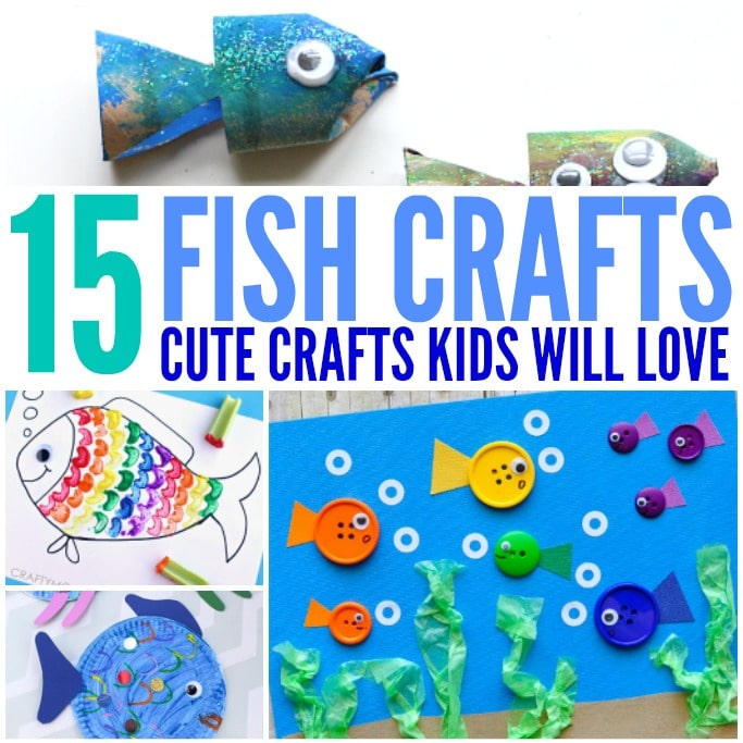 fish crafts for kids square