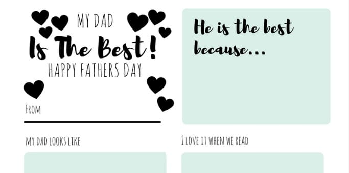 free fathers day printable header