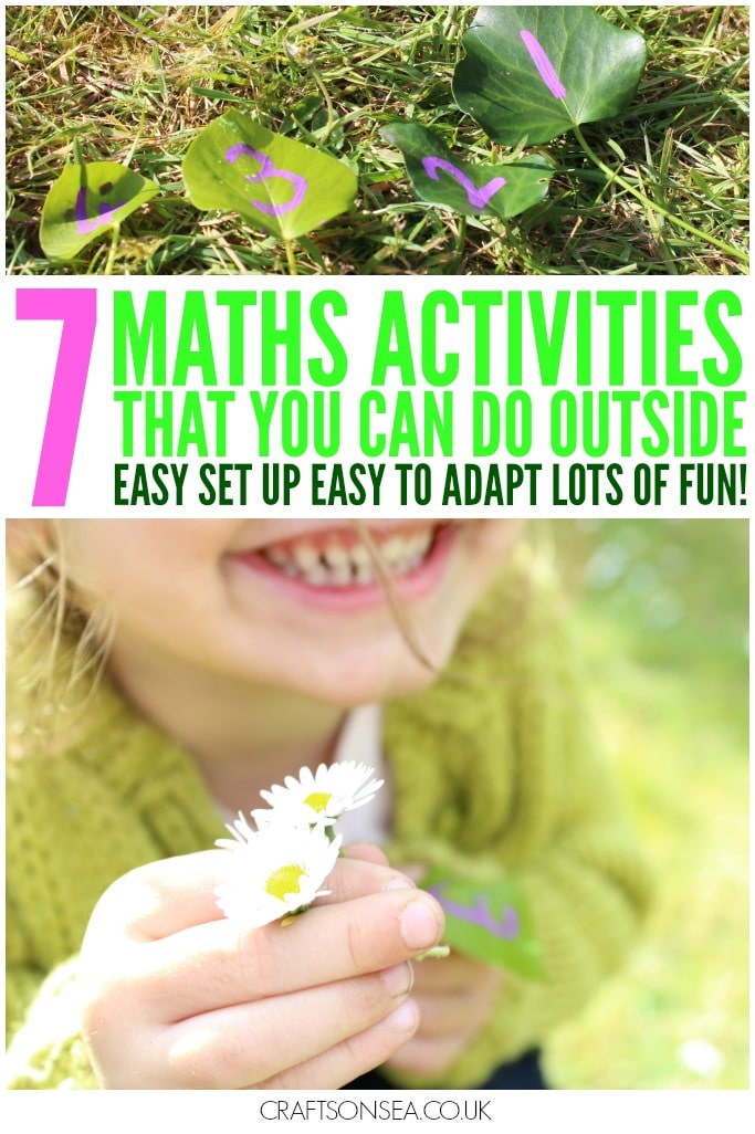 maths activities you can do outside with leaves