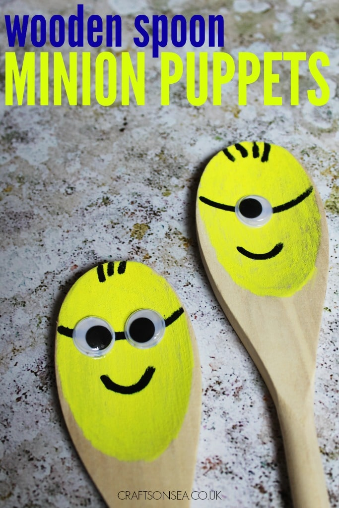 minion puppets craft for kids