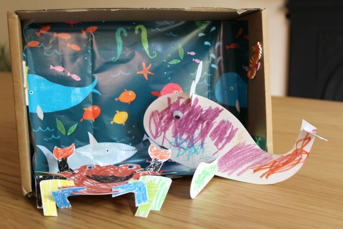 ocean activities diorama craft kids