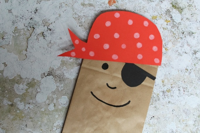 paper bag pirate puppet craft for kids