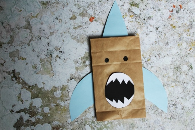 paper bag shark craft crafts on sea paper bag shark