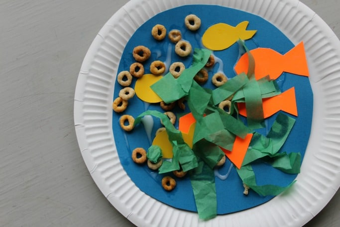 paper plate sea collage for kids easy