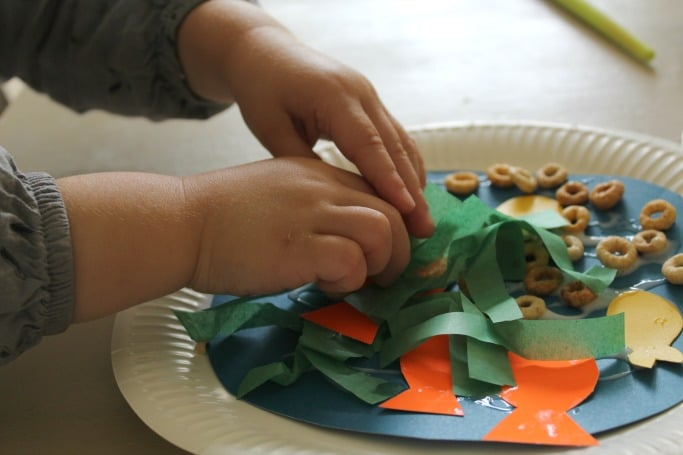 paper plate sea collage toddlers