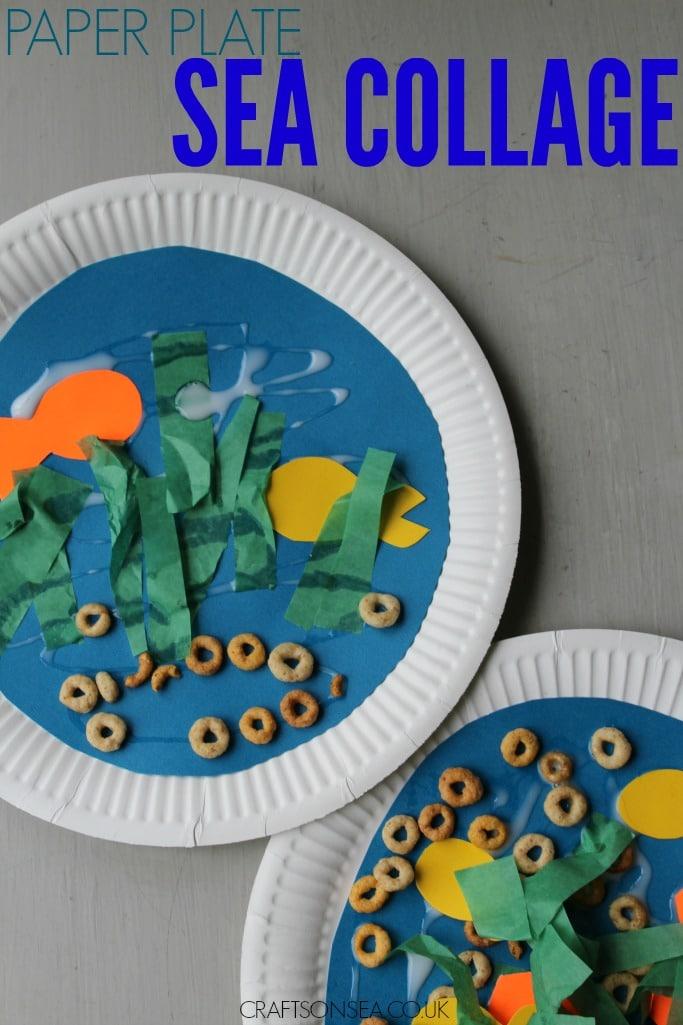 paper plate sea collage