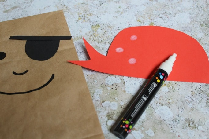 pirate paper bag puppet