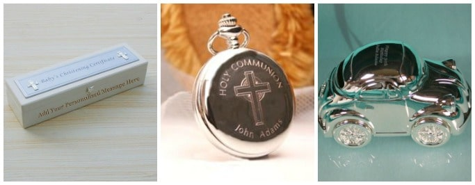traditional personalised christening gifts