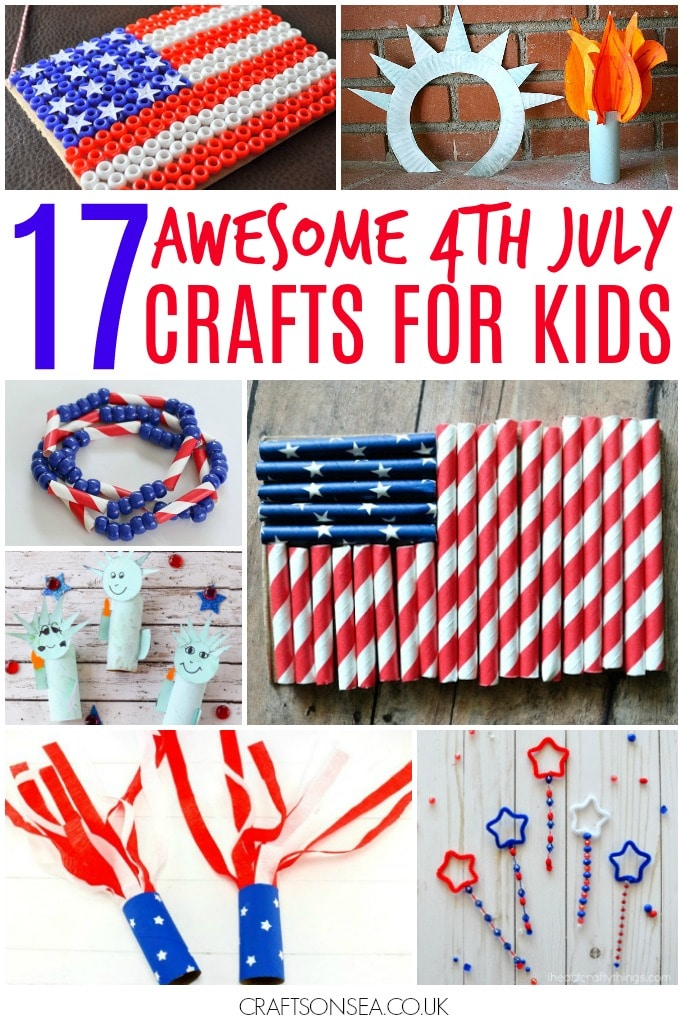 Th july crafts for kids paper plate flag on sea