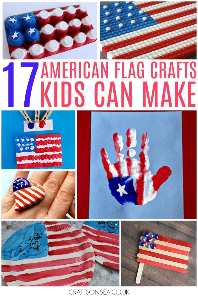 American flag crafts for kids red white and blue