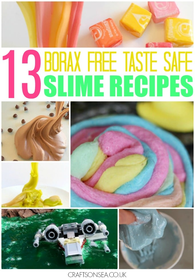 borax free slime recipes taste safe