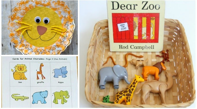 dear zoo activities and crafts preschool eyfs