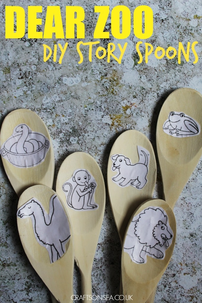 dear zoo activities diy story spoons eyfs