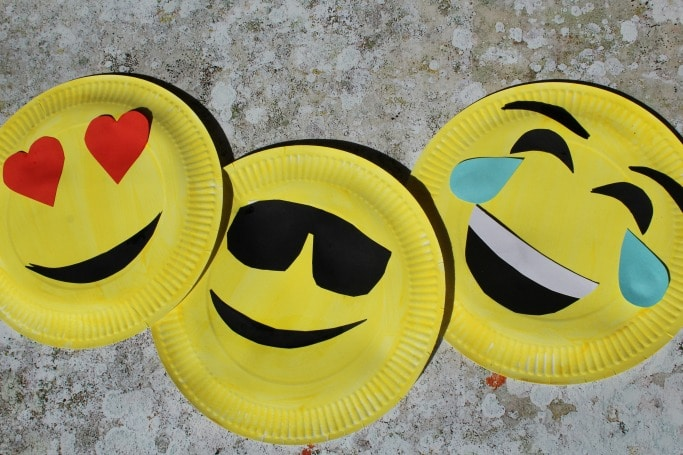 kids emoji craft paper plates easy