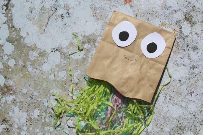 paper bag crafts for kids jelly fish