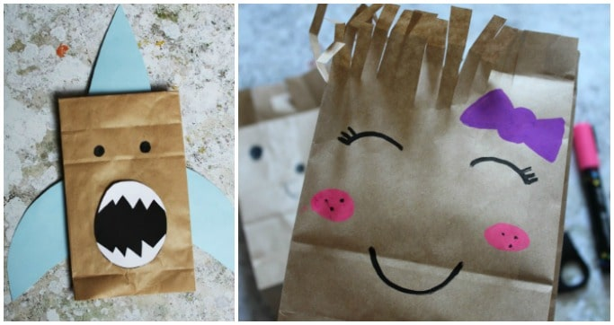 paper bag crafts for kids preschool