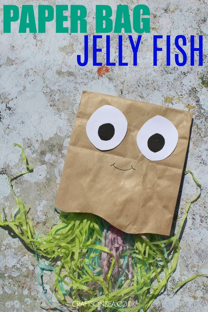 paper bag jellyfish craft for kids
