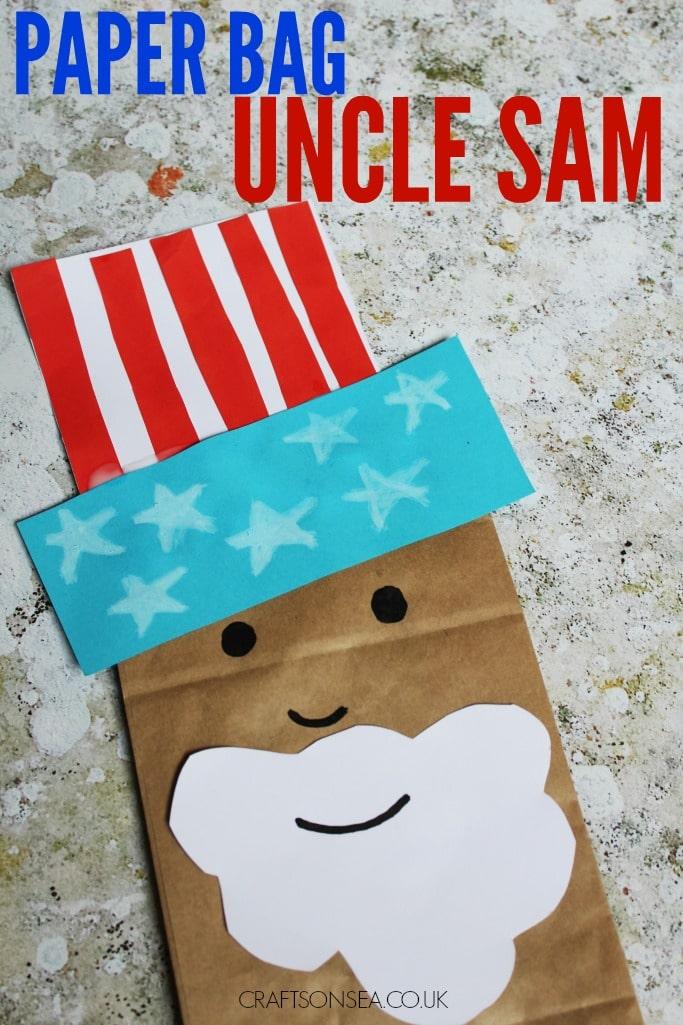 paper bag uncle sam kids craft
