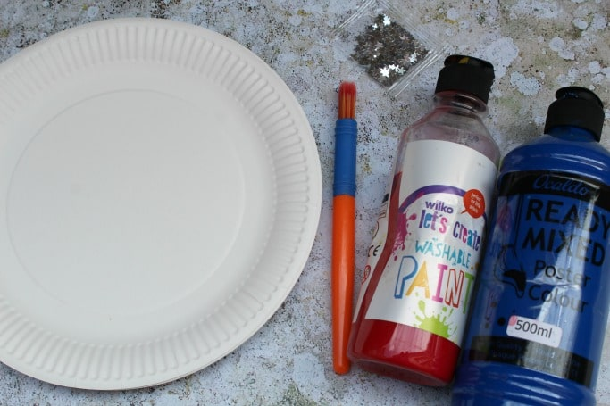 4th of july craft paper plate