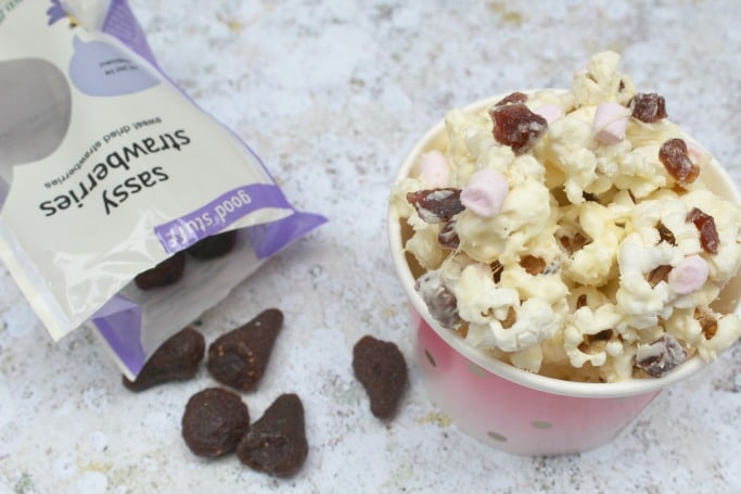 popcorn with dried strawberries #shop