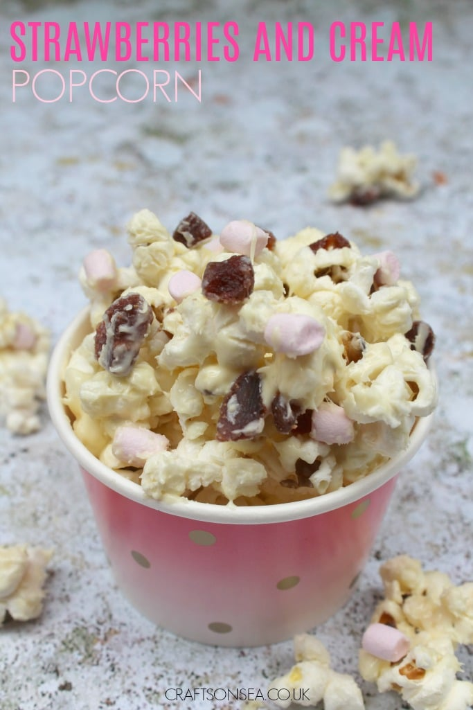 strawberries and cream popcorn #shop