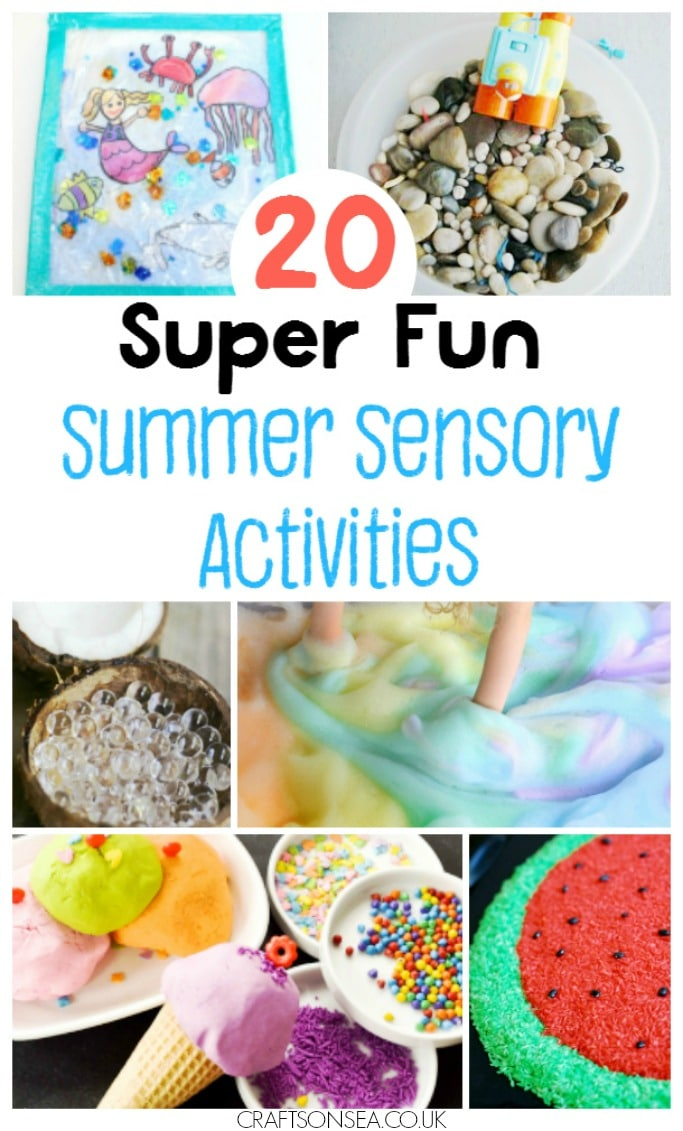 summer sensory play and activities