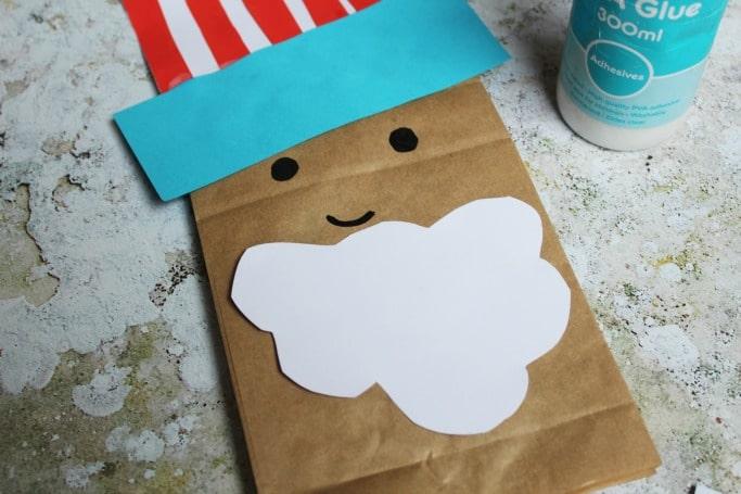 uncle sam paper bag craft puppet