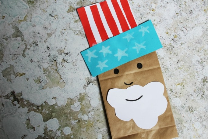 uncle sam paper bag easy craft for kids
