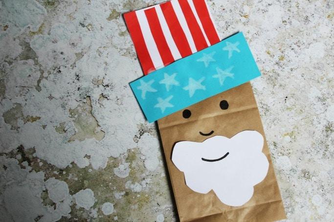 uncle sam paper bag easy craft for kids