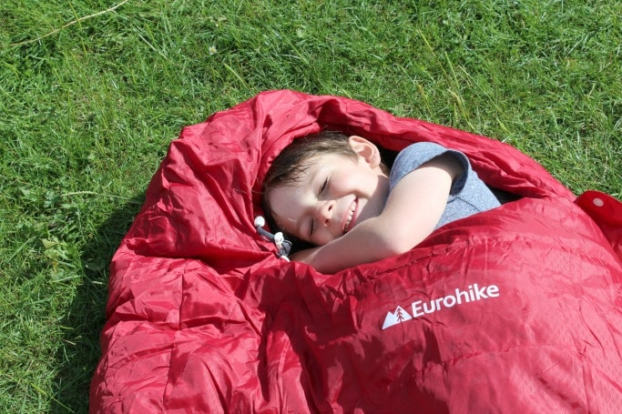 what to take glamping with kids sleeping bag