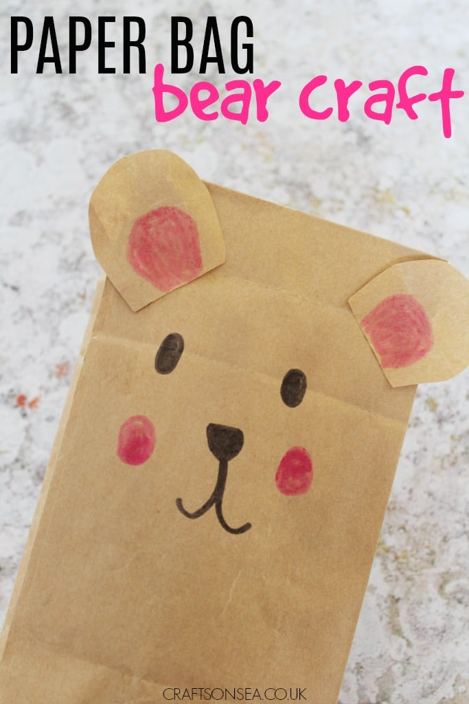 Paper Bag Bear Craft for Kids