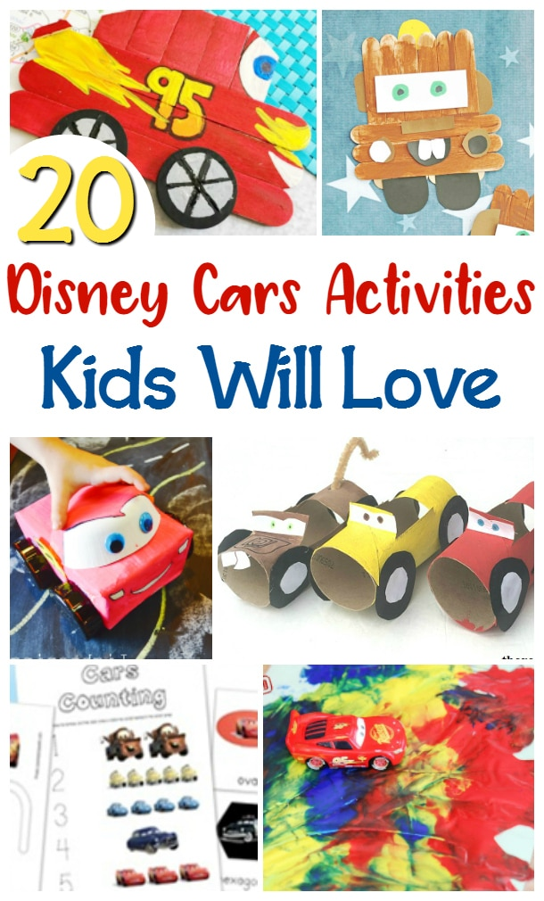 disney cars activities for kids