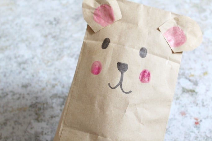 easy paper bag bear craft for kids