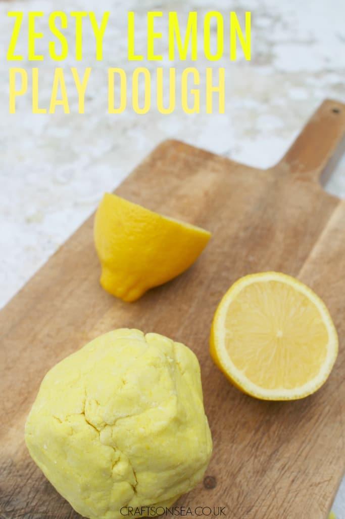lemon play dough recipe