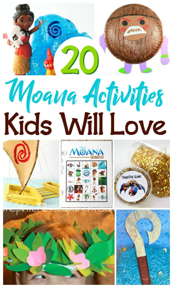 moana crafts and activities for kids
