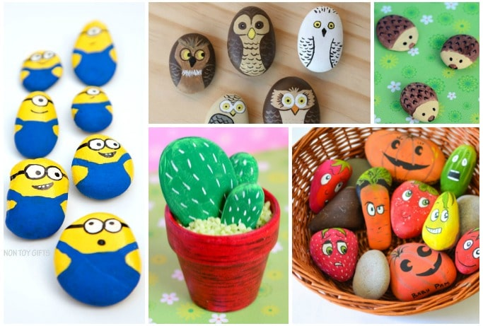 painted rocks kids can make