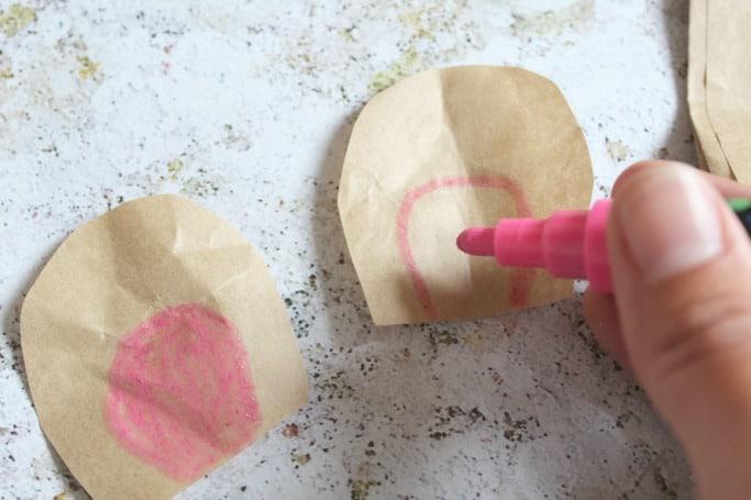 paper bag bear craft for kids ears