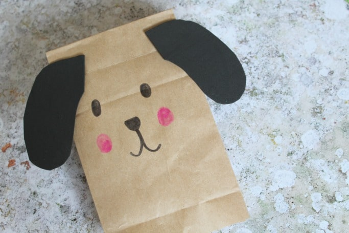 paper bag crafts for kids puppy puppet