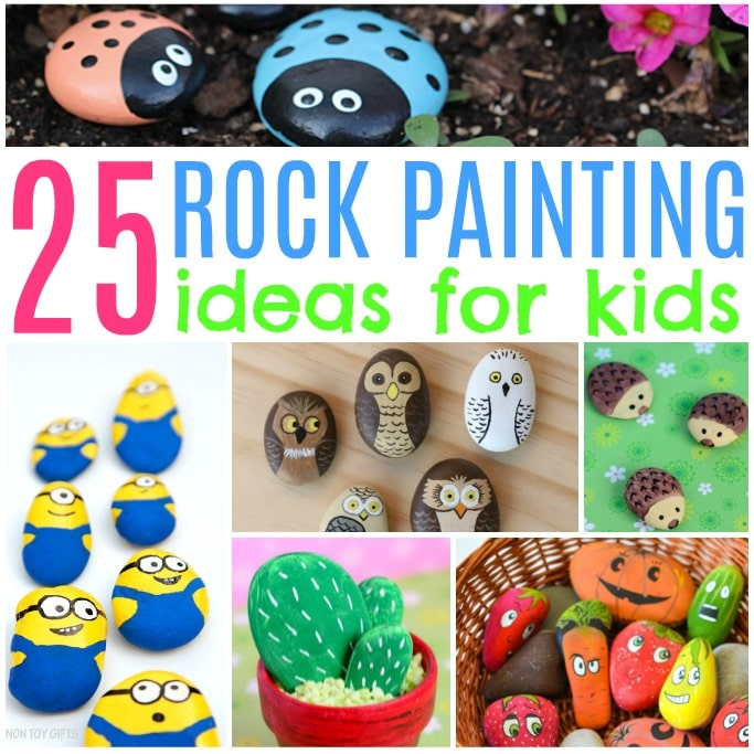 rock painting ideas for kids painted stones
