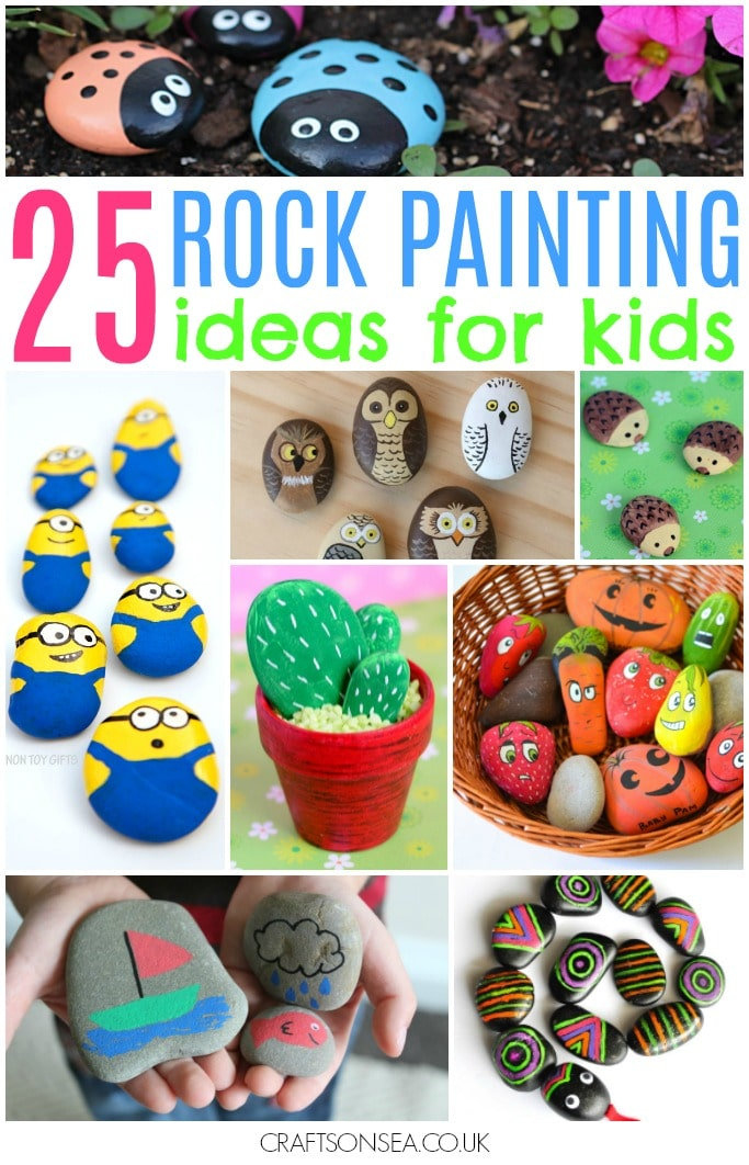 Rock Painting Ideas For Kids 25 Awesome Ideas Crafts On Sea