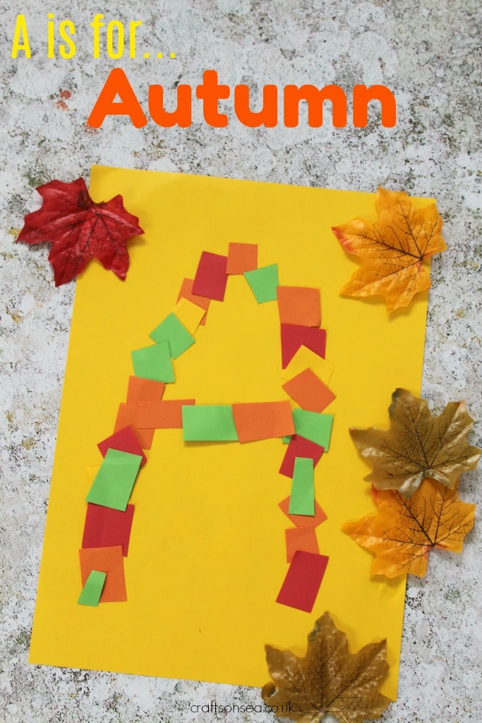 a is for autumn fine motor skills craft