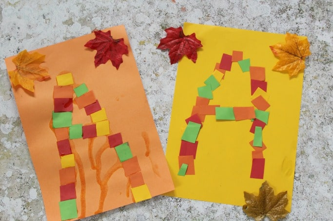 autumn letter craft for kids